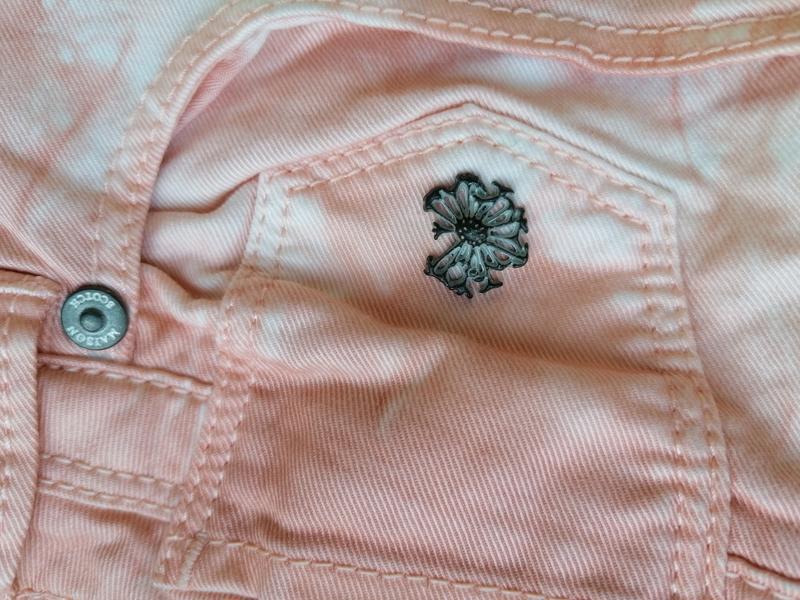 Натуральные джинсы-варенки с разводами дорогого бренда maison ... - Фото 8