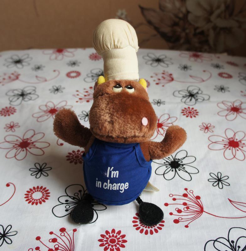 Детская игрушка Бегемотик-поваренок, мишка, мягкая игрушка