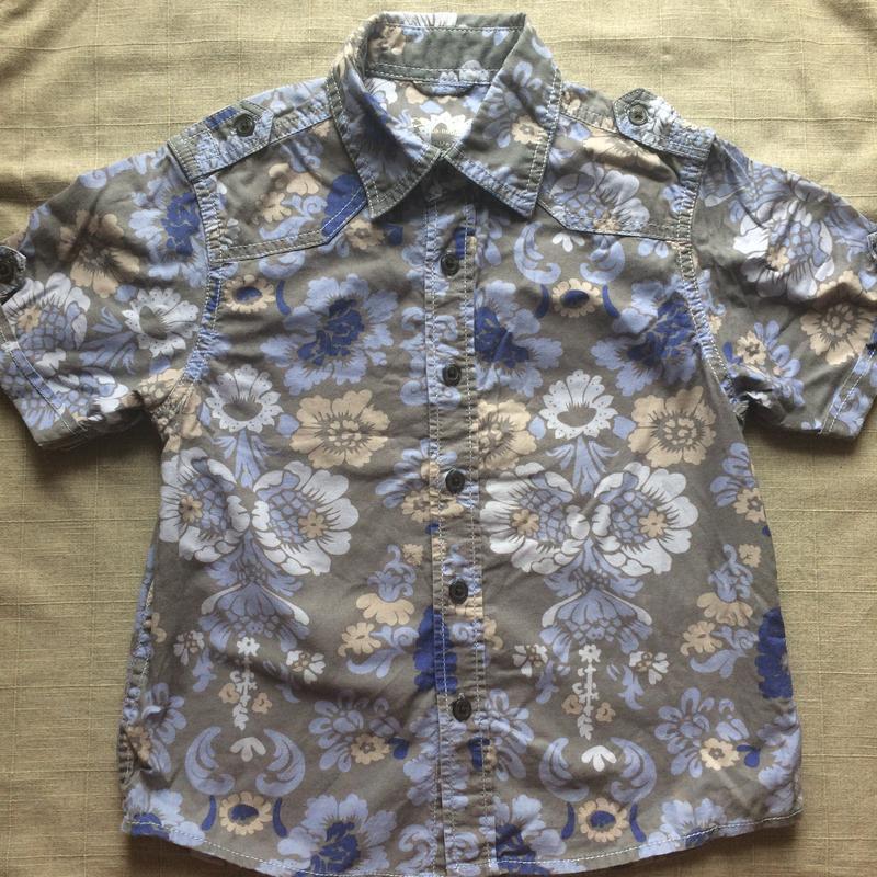 Яркая летняя рубашка в цветы next