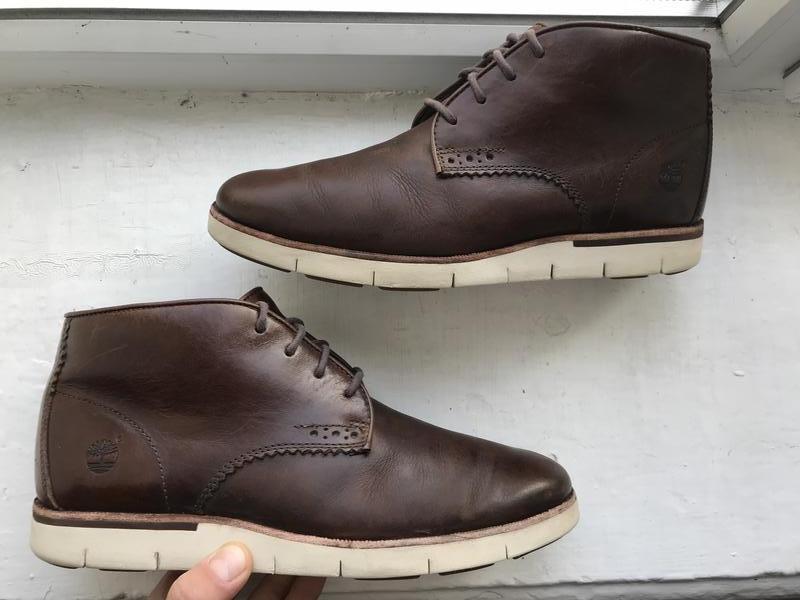 Кожаные туфли timberland 40p полуботинки демисезонные оригинал
