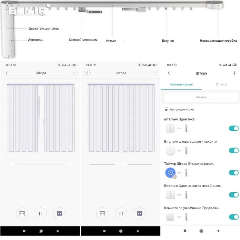 Розумний електро карниз для Xiaomi Mijia Aqara Curtain и Doyya - Фото 6