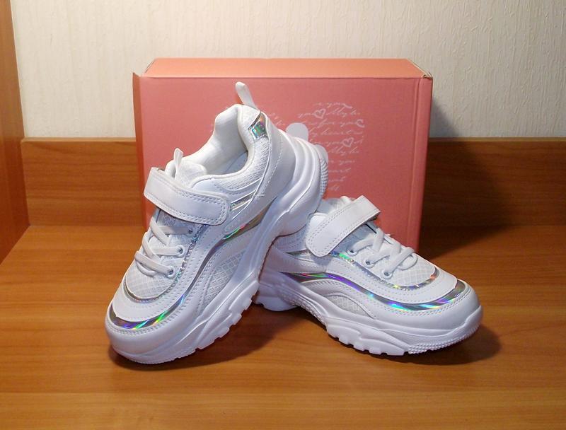 Белые кроссовки для девочки качественные том.м