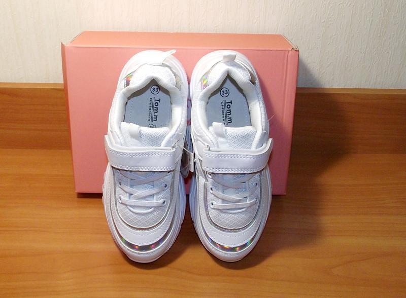 Белые кроссовки для девочки качественные том.м - Фото 2
