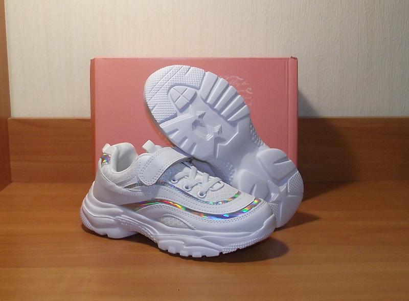 Белые кроссовки для девочки качественные том.м - Фото 3