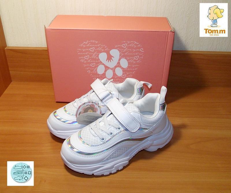 Белые кроссовки для девочки качественные том.м - Фото 4