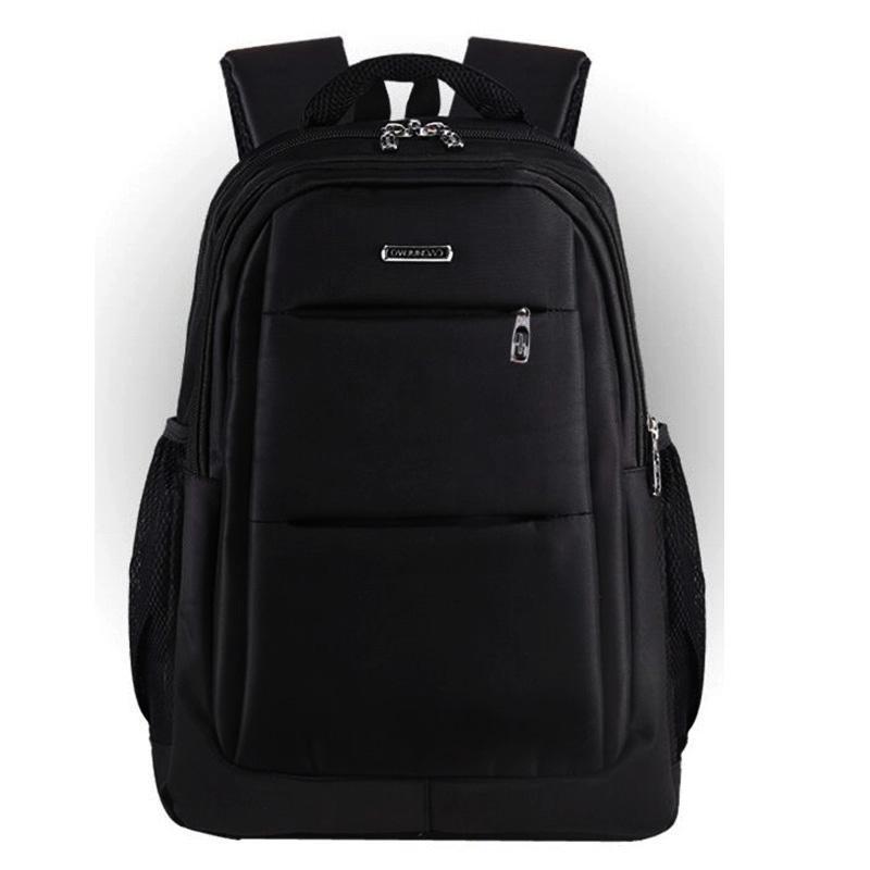 Мужской черный городской, повесдневный, офисный рюкзак классика