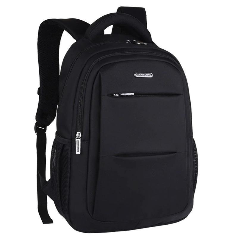 Мужской черный городской, повесдневный, офисный рюкзак классика - Фото 2