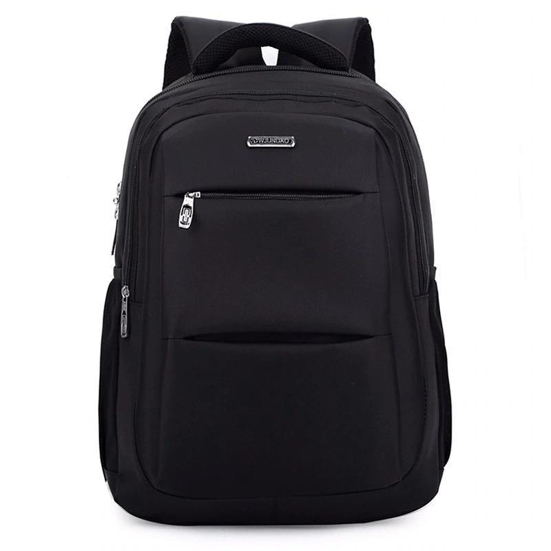 Мужской черный городской, повесдневный, офисный рюкзак классика - Фото 3