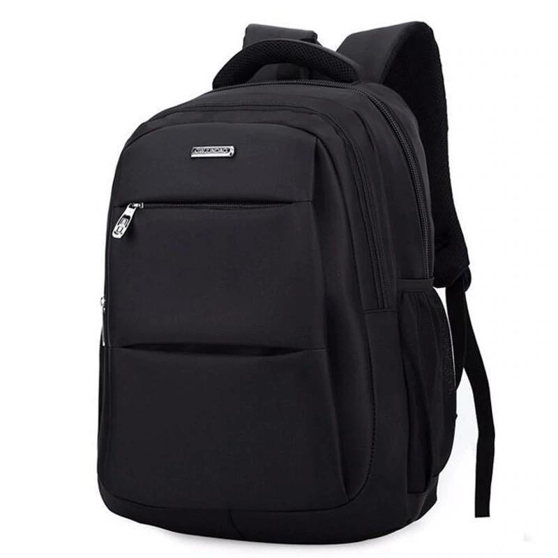 Мужской черный городской, повесдневный, офисный рюкзак классика - Фото 4
