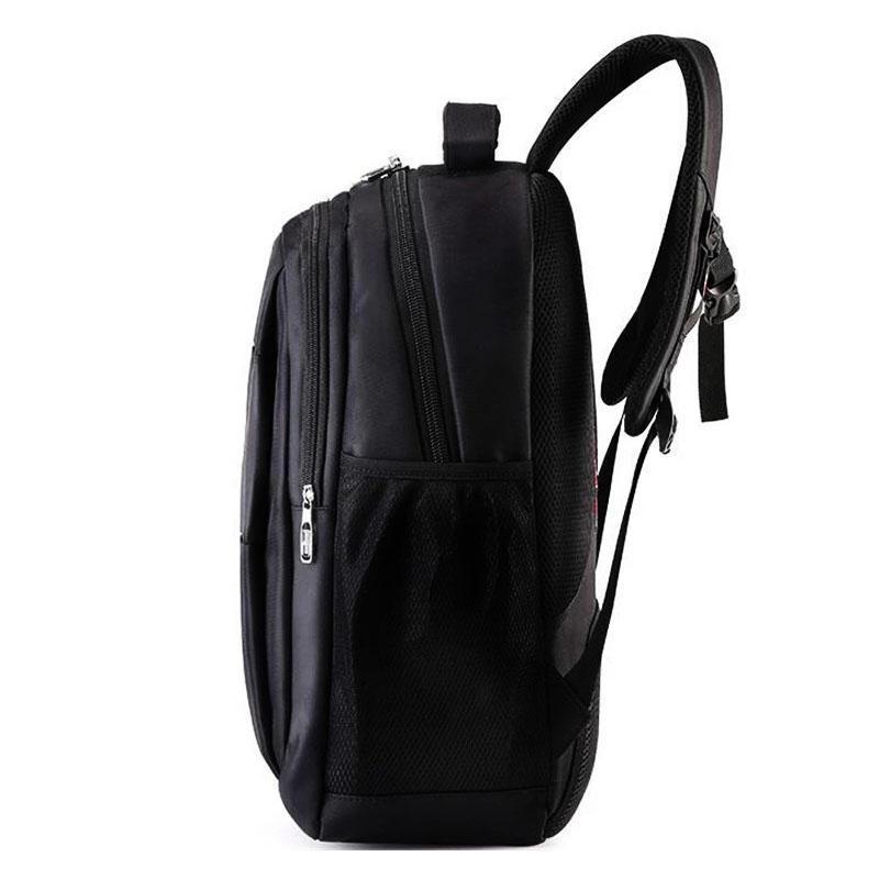 Мужской черный городской, повесдневный, офисный рюкзак классика - Фото 5