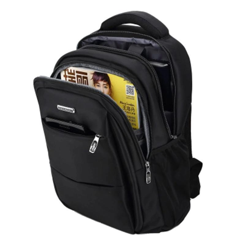 Мужской черный городской, повесдневный, офисный рюкзак классика - Фото 6