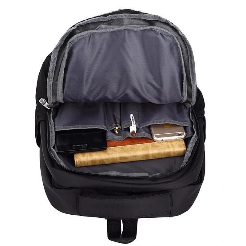 Мужской черный городской, повесдневный, офисный рюкзак классика - Фото 8