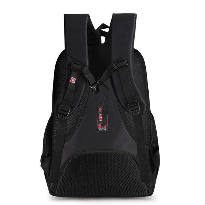 Мужской черный городской, повесдневный, офисный рюкзак классика - Фото 9