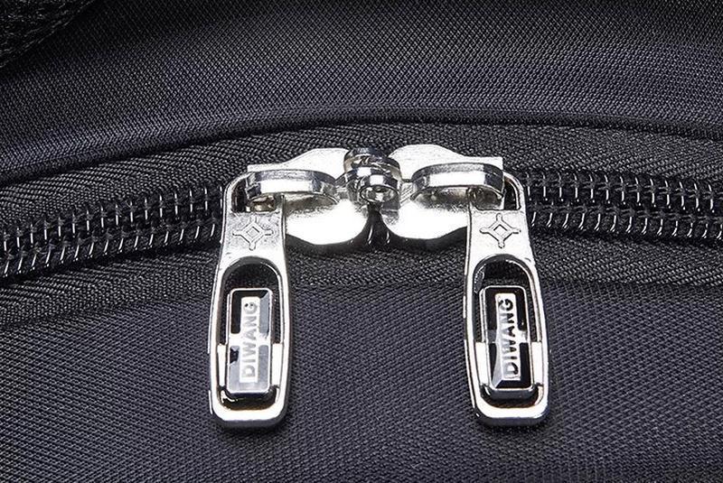 Мужской черный городской, повесдневный, офисный рюкзак классика - Фото 10