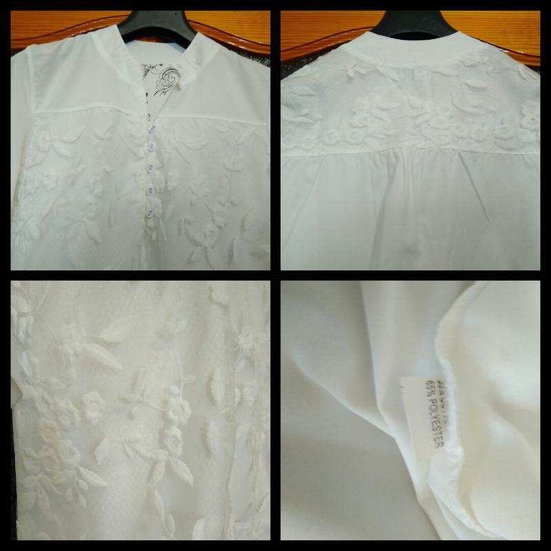 Шикарная белая блуза, размер xl