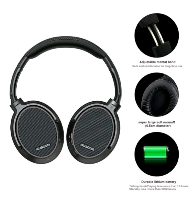 Беспроводные наушники Bluetooth AUSDOM ANC7S с актив. шумоподавле - Фото 3