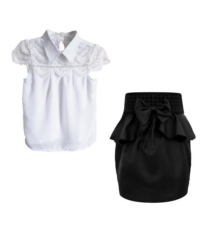 🌼школьная блузка и юбка, комплект 1634