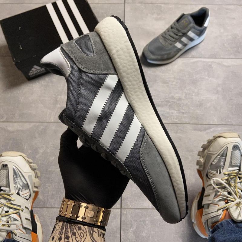 Adidas iniki gray white. - Фото 10