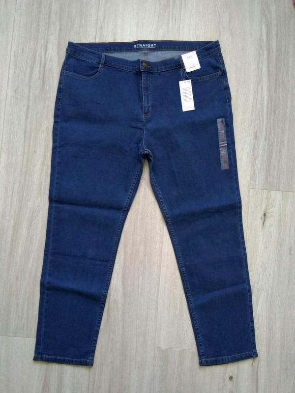 Джинсы женские marks & spencer размер uk 22 eur 50 синие - Фото 2