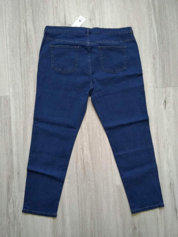 Джинсы женские marks & spencer размер uk 22 eur 50 синие - Фото 3