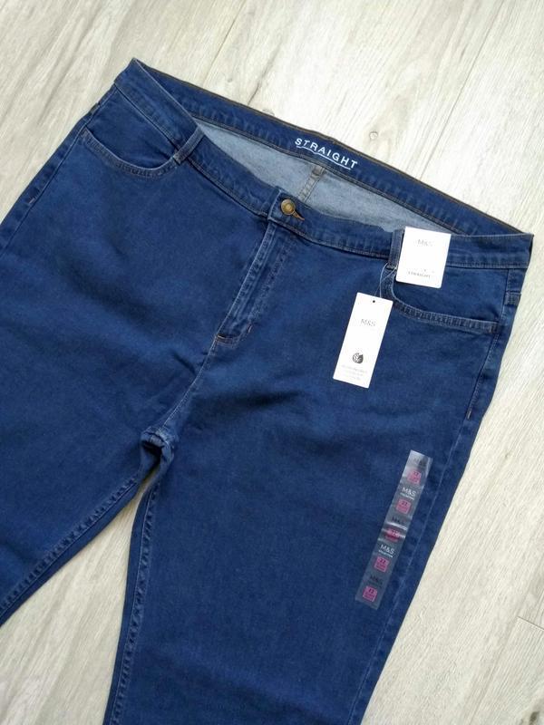 Джинсы женские marks & spencer размер uk 22 eur 50 синие