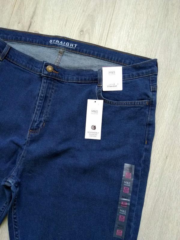 Джинсы женские marks & spencer размер uk 22 eur 50 синие - Фото 4
