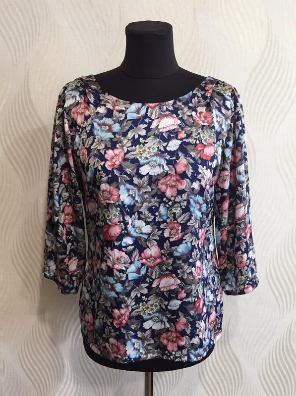 Стильная блуза в винтажном стиле с цветочным принтом many bell... - Фото 2