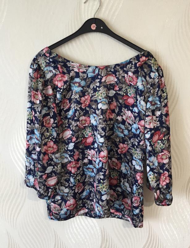 Стильная блуза в винтажном стиле с цветочным принтом many bell... - Фото 6