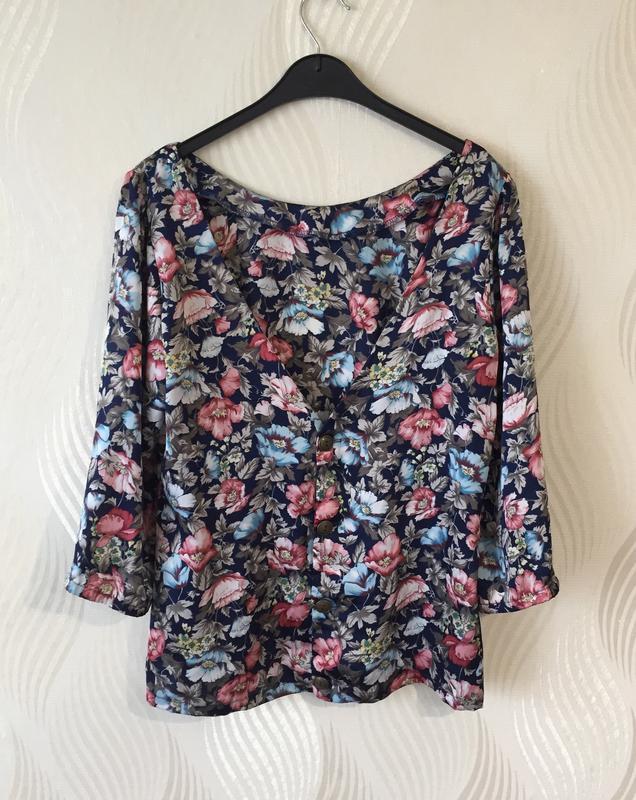 Стильная блуза в винтажном стиле с цветочным принтом many bell... - Фото 7