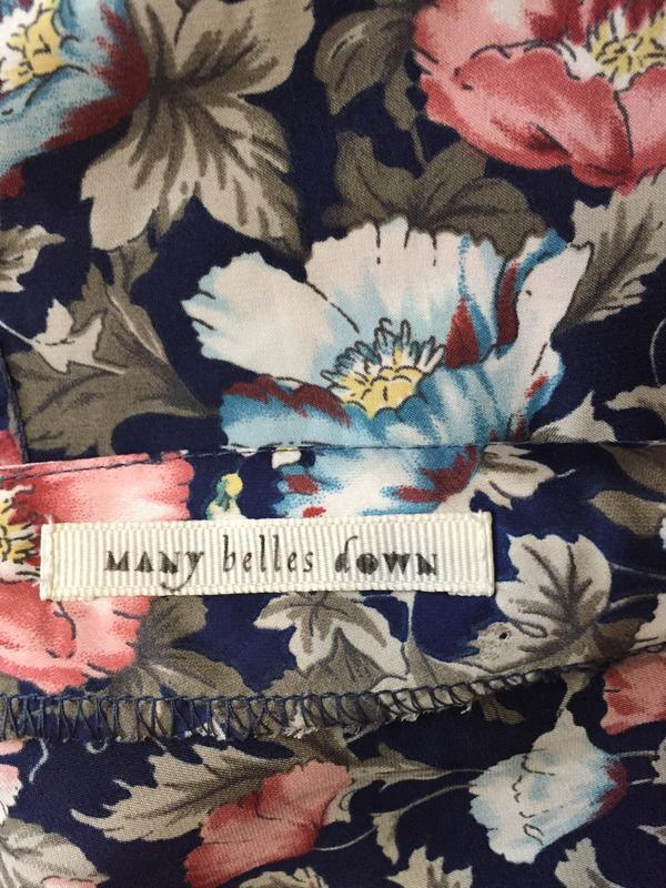 Стильная блуза в винтажном стиле с цветочным принтом many bell... - Фото 8