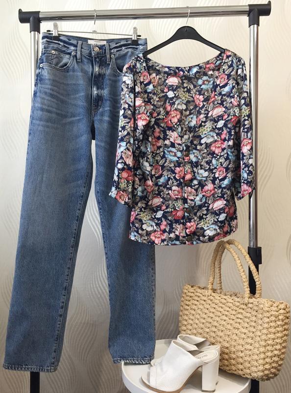 Стильная блуза в винтажном стиле с цветочным принтом many bell... - Фото 10