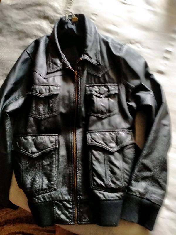 Кожаная куртка мужская - Фото 3