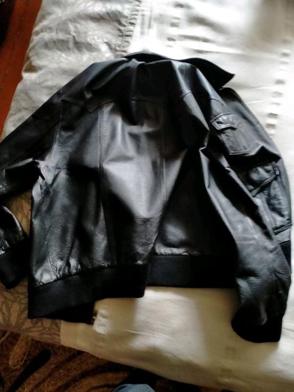 Кожаная куртка мужская - Фото 8