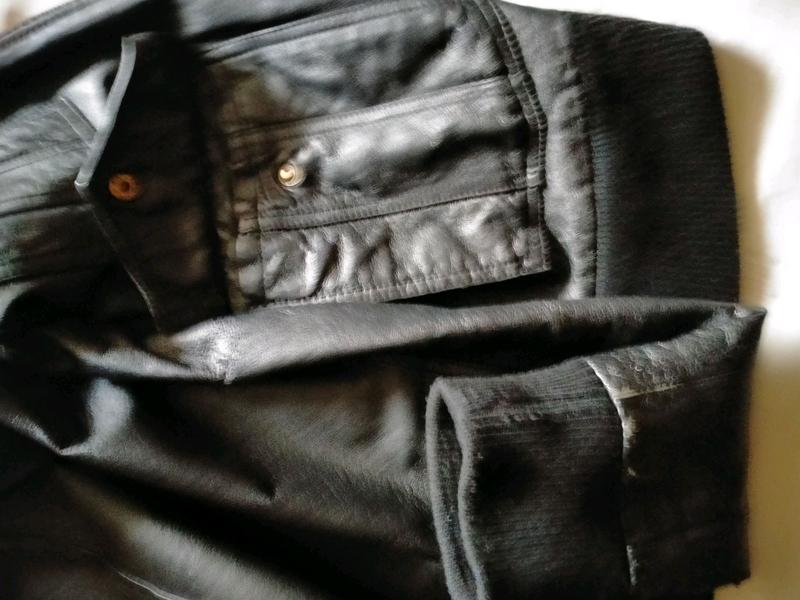 Кожаная куртка мужская - Фото 5