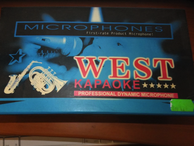 Микрофон для караоке WEST DM-889 -металл! - Фото 2