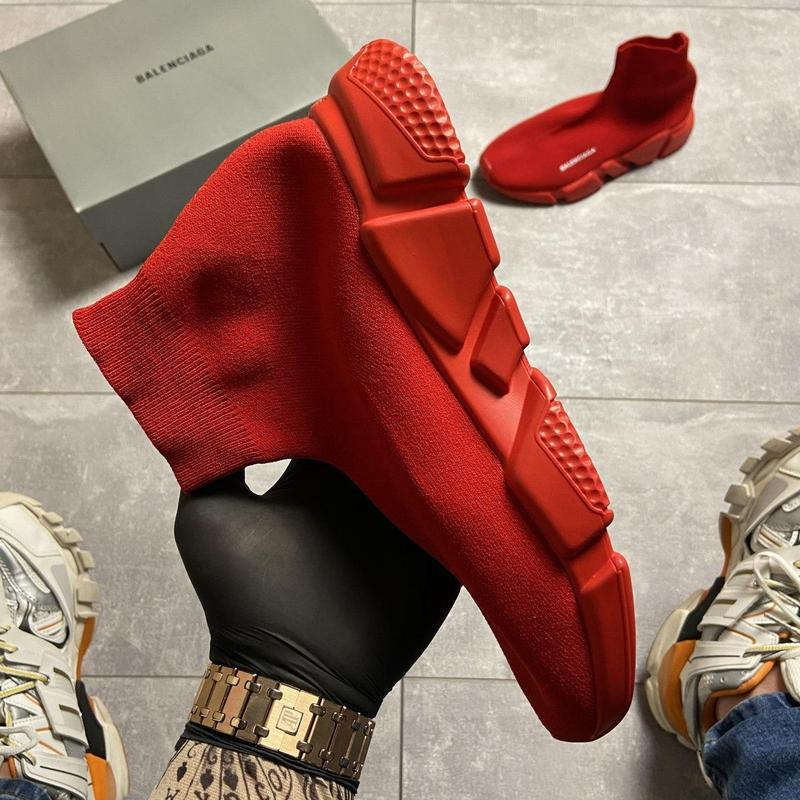 Balenciaga speed trainer all red. - Фото 8
