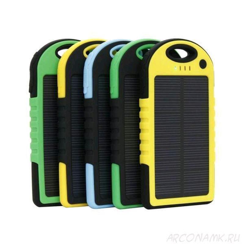 Портативное зарядное Power Bank Solar 50000 mAh на солнечной бата - Фото 4