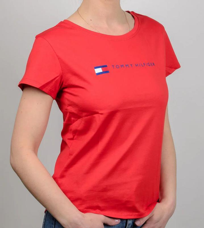 Женская футболка, логотип Tommy Hilfiger - Фото 2