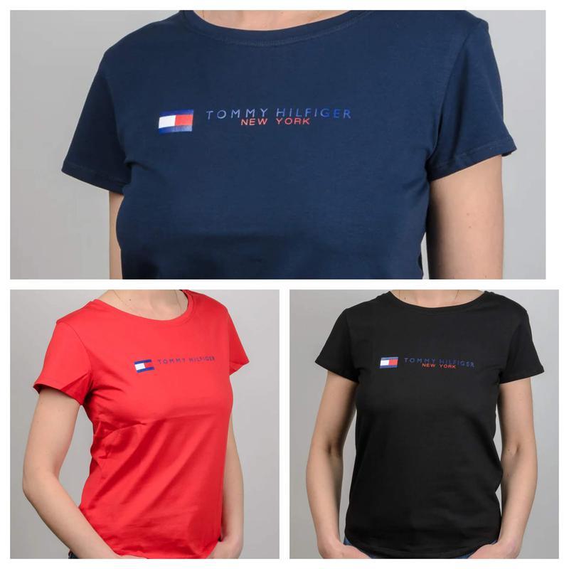 Женская футболка, логотип Tommy Hilfiger - Фото 7