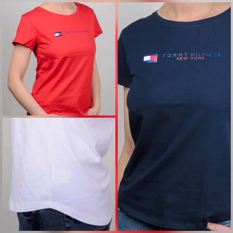 Женская футболка, логотип Tommy Hilfiger - Фото 8