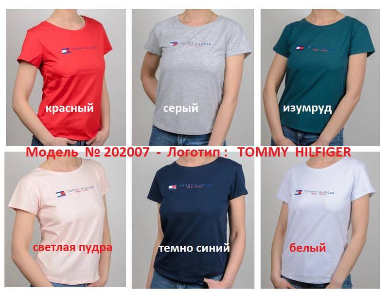 Женская футболка, логотип Tommy Hilfiger - Фото 9