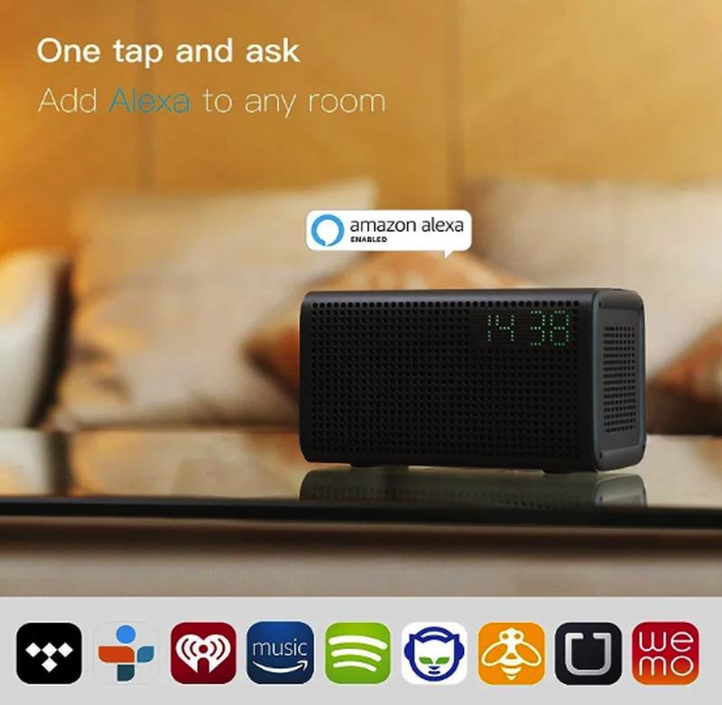 Колонка GGMM E3 Bluetooth /WiFi/Alexa/Multi Room Play /LED Clock - Фото 2