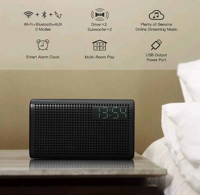 Колонка GGMM E3 Bluetooth /WiFi/Alexa/Multi Room Play /LED Clock - Фото 3