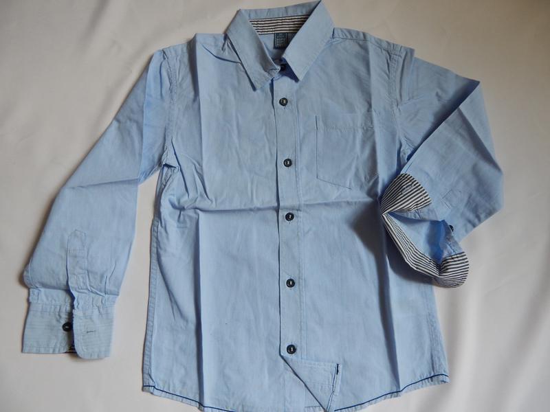 Голубая рубашка на мальчика 6-7 лет dopo dopo boys (рост 122)