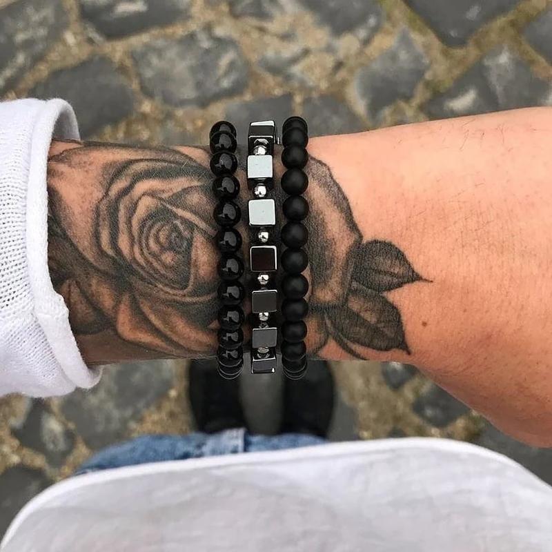 Комплект браслетов, мужской браслет