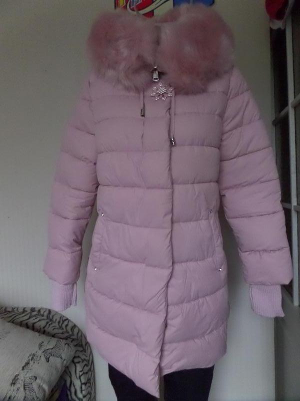 Куртка зимняя цвет пудра