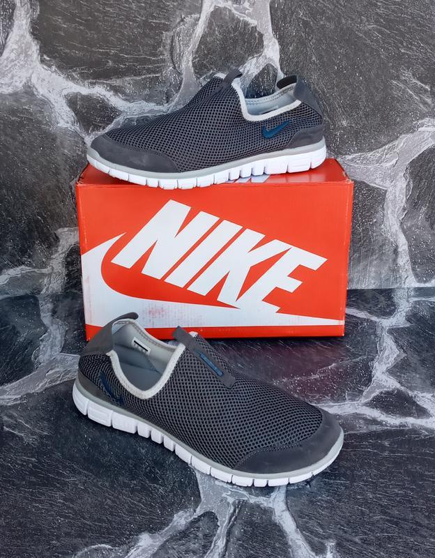 Мужские кроссовки nike free run 3.0 сетка,серые,летние - Фото 2