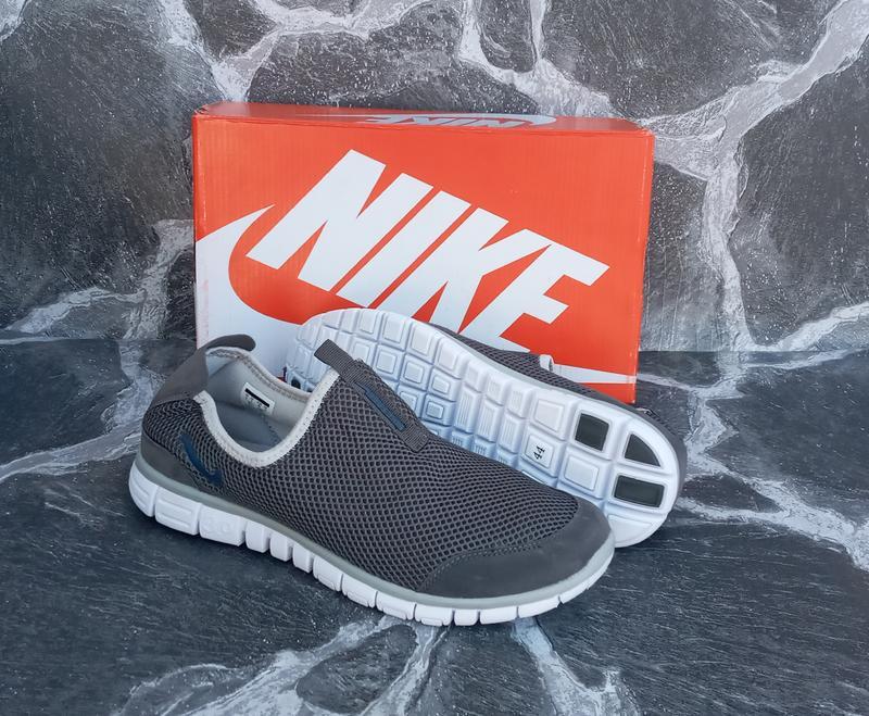 Мужские кроссовки nike free run 3.0 сетка,серые,летние - Фото 3