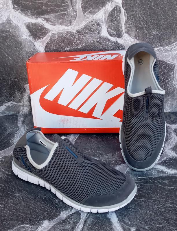 Мужские кроссовки nike free run 3.0 сетка,серые,летние - Фото 4