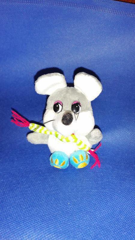 Мышка крыса брелок сувенир мягкая игрушка